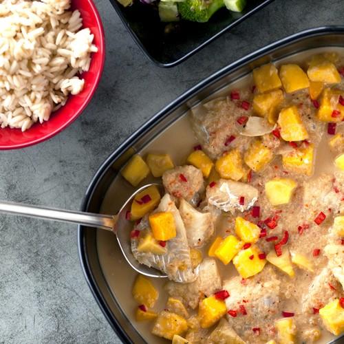 Opskrift på torsk med mango-kokossovs